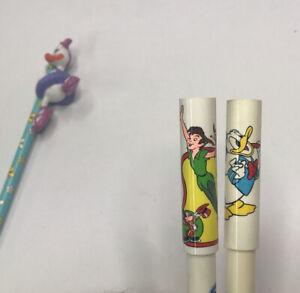 Disney Park Disney On Ice Pens Peter Pan, Donald Duck & Daisy Duck Pencil Topper