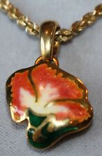 18Kt Yellow Gold Beautiful ITALIAN Enameled Enhancer PENDANT FINELY HANDCRAFTED