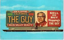 STOCKTON, CA  REAL ESTATE BILLBOARD  Ad~Don Klopping's The Guy!  1972   Postcard