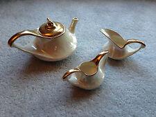 Vintage Tea Coffee Creamer Sugar Iridescent Pearlized Warranted 22K Pearl China