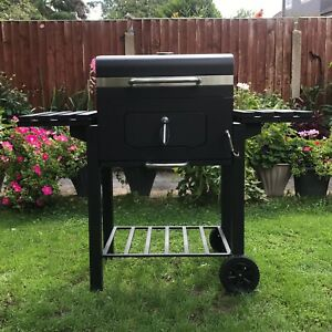 Deluxe Barbecue BBQ Outdoor Charcoal Smoker Portable Grill Garden