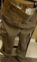 BURBERRY London khaki cargo pants women UK 6/US 4 6 Tan long capri safari check