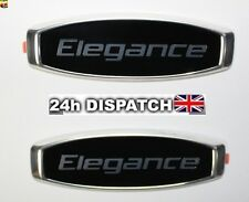 2x For Skoda Elegance Emblem Badge Sticker Logo Octavia Fabia Superb Rapid Yeti