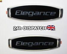 2x For Skoda Elegance Emblem Badge Sticker Logo Octavia Fabia Superb Rapid Yeti