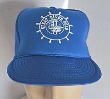 NOS Great River Road Blue Trucker Snapback Hat Cap Mississippi River Steamboat