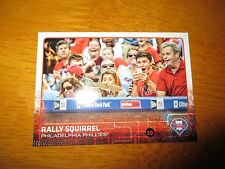 RALLY SQUIRREL Phillies 2015 Topps Update SHORT PRINT Variation Card #US318
