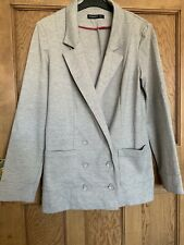 Ladies Grey Blazer Jacket Size 8