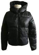 Bershka Puffa Womens Jacket Navy superwarm pockets hooded Mex 26