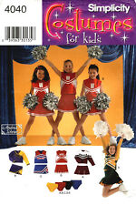 Simplicity 4040 Girls Cheerleader Costumes Sewing Pattern Size 8 10 12