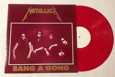 "Metallica Bang A Gong Red Vinyl LP / 1988 UK ""Damaged Justice Tour"" Live Record"