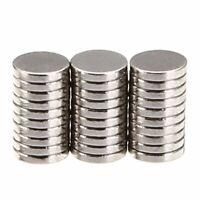 100pcs N35 Aimants Magnet Néodyme Forte Super Ronds Disques Argent