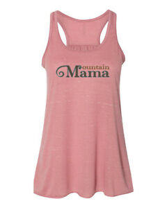 MOUNTAIN MAMA, Vacation, RACERBACK, Athleisure, Sublimation, Women's TANK TOP