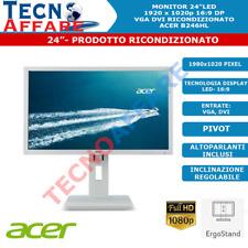 """Monitor LED 24""""16:9 1980x1080 VGA DVI Pivot Ricondizionato Acer"""