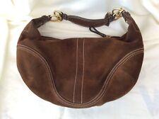 Coach Soho Hobo bag, brown suede, medium, preowned, good condition, #F10935