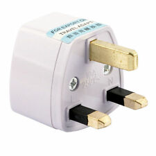 UK 3 PIN TO US/EU/AU 2 PIN PLUG TRAVEL ADAPTER CONVERTER FOR 110-240v AC CHARGER