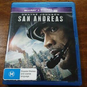 San Andreas Blu-Ray LIKE NEW! FREE POST