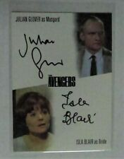 The Avengers Complete Trading Cards Julian Glover/Isla Blair Dual Autograph Card