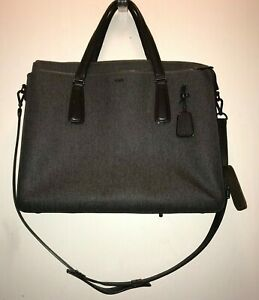 Tumi Sinclair Earl Grey Canvas Laptop Briefcase Messenger Business Bag - 79391EG