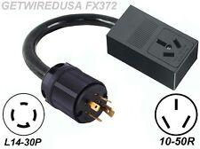 Generator 4-Prong L14-30P Twist Lock Plug 3-Pin 10-50R Welder Power Cord Adapter