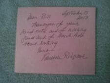* SALE * VANESSA REDGRAVE SIGNED HANDWRITTEN NOTE  * SALE *
