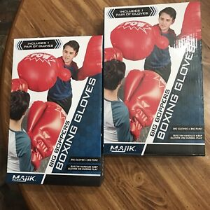 2 Pairs of New MAJIK JUMBO Giant Boxing Gloves Big Boppers Inflatable Gloves