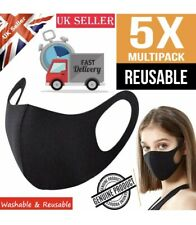5X Face Mask Protective Covering Washable Reusable Comfortable Adult Unisex UK