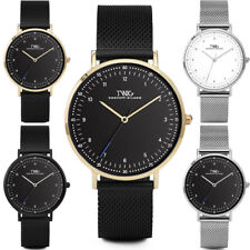 Reloj hombre/mujer TWIG MUNTER oro/negro/plata malla clásico vintage
