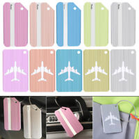 4 Pcs Aluminum Luggage Bag Tag Travel Name ID Labels Tag for Baggage Suitcases