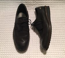 ECCO Black Nubuck Leather Contoured Wingtips Oxfords Lace-up Shoes 41 / 10 10.5