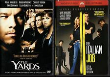 THE YARDS & THE ITALIAN JOB-2 MARK WAHLBERG crime DVDs with CHARLIZE THERON