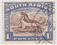(RSA130)1926SouthAfrica1/-brown&blue WilderbeastSouth)D
