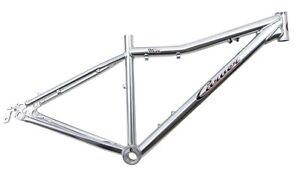 "Carver Bikes 96'er Aluminum MTB Mountain Frame 15"" Polished Silver 29er . . NEW"