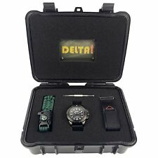 DelTat Umi U-735 Black Watch & Multiple Straps & Transportation Case