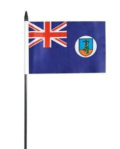 "Montserrat Small Hand Waving Flag 6"" x 4"""