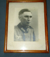Militaria Foto original WW 2.WK 17 x 11 cm Soldat im Bilderrahmen