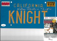 William Daniels Authentic Knight Rider License Plate Autographed, Kitt, JSA COA