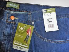 NWT Lee Premium Select Jeans 42x30 Compton Relaxed Straight Leg Blue NEW 42 x 30