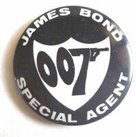 1966 JAMES BOND 007 VINTAGE PINBACK TIN BADGE SECRET AGENT LICENSED AUSSIE ONLY!
