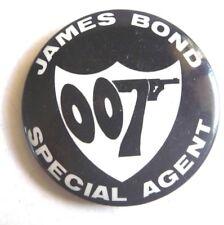 1966 JAMES BOND 007 VINTAGE Pinback badge SEAN CONNERY ERA AUSSIE ONLY LINDSAYS