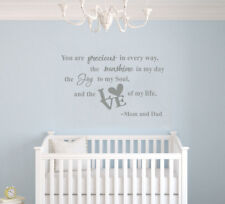 You are Precious in Every Way - Baby Girl Quote for Baby Nursery Wall Decal