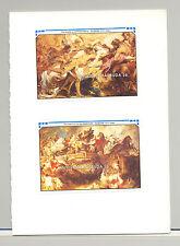 Antigua #1378-1379 Rubens Art 2v S/S Imperf Proofs Mounted in Folder