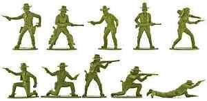 Airfix Cowboys - 14 figures - 1980s Production - mint - pose distribution varies