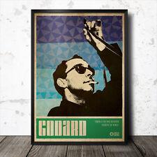 Jean Luc Godard art poster film cinéma film culte Tarkovski David Lynch Kubrick