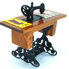 Dollhouse accessories Dolls House Sewing Machine Miniature Sewing Table wooden