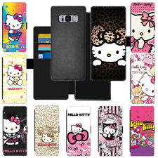 Colorful Cartoon Hello Kitty Flip Cover Wallet PU Leather Phone Case For Samsung