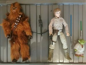 STAR WARS FORCES OF DESTINY - LUKE SKYWALKER & YODA - CHEWBACCA