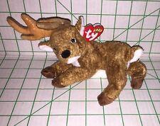 Ty Beanie Baby Roxie Deer Reindeer Christmas 2000 Plush Stuffed Toy Retired