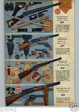 1972 PAPER AD Marx Rifle Set Cavalryman Circle X Marshall Trail Little Joe's Joe