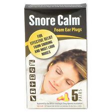 Snore Calm Foam Ear Plugs (5 Pairs) Earplugs 35db NRR