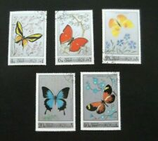 Oman-1972-Set of 5 Pictorial Butterflies-Used